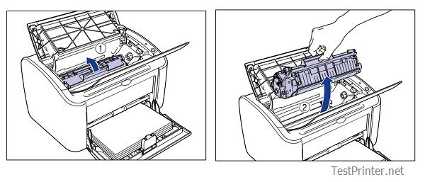 How to replace toner cartridge printer canon lbp 2900